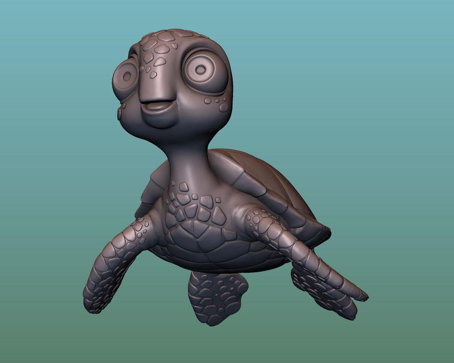 海龟(绿海龟(可进行3D打印)) royalty-free 3d model - Preview no. 8