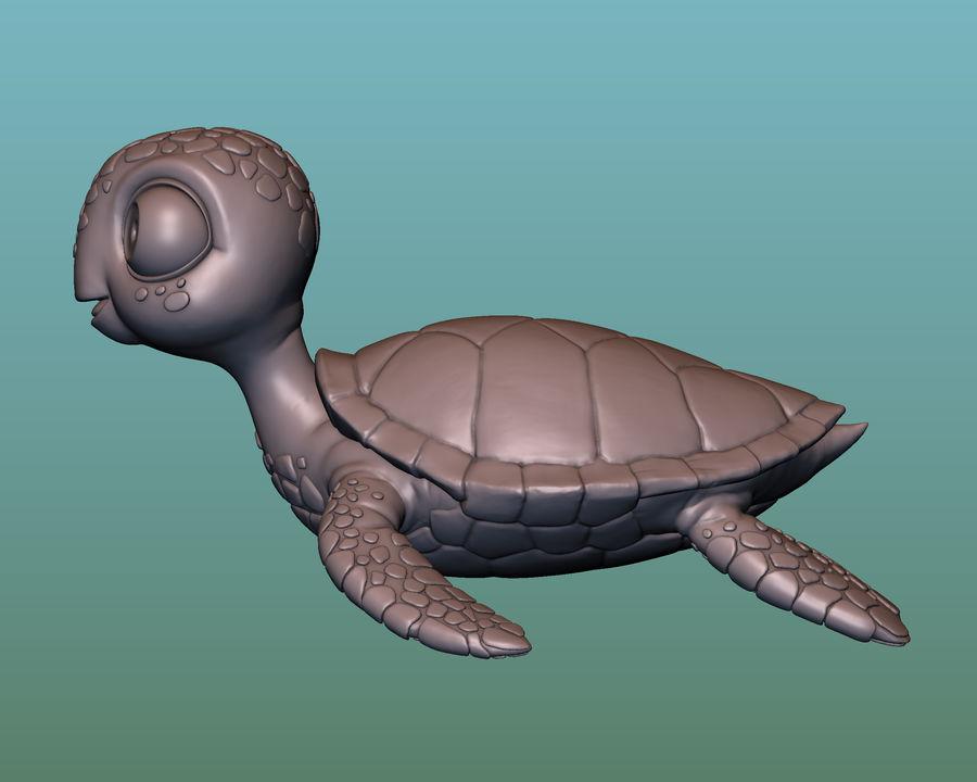 海龟(绿海龟(可进行3D打印)) royalty-free 3d model - Preview no. 4