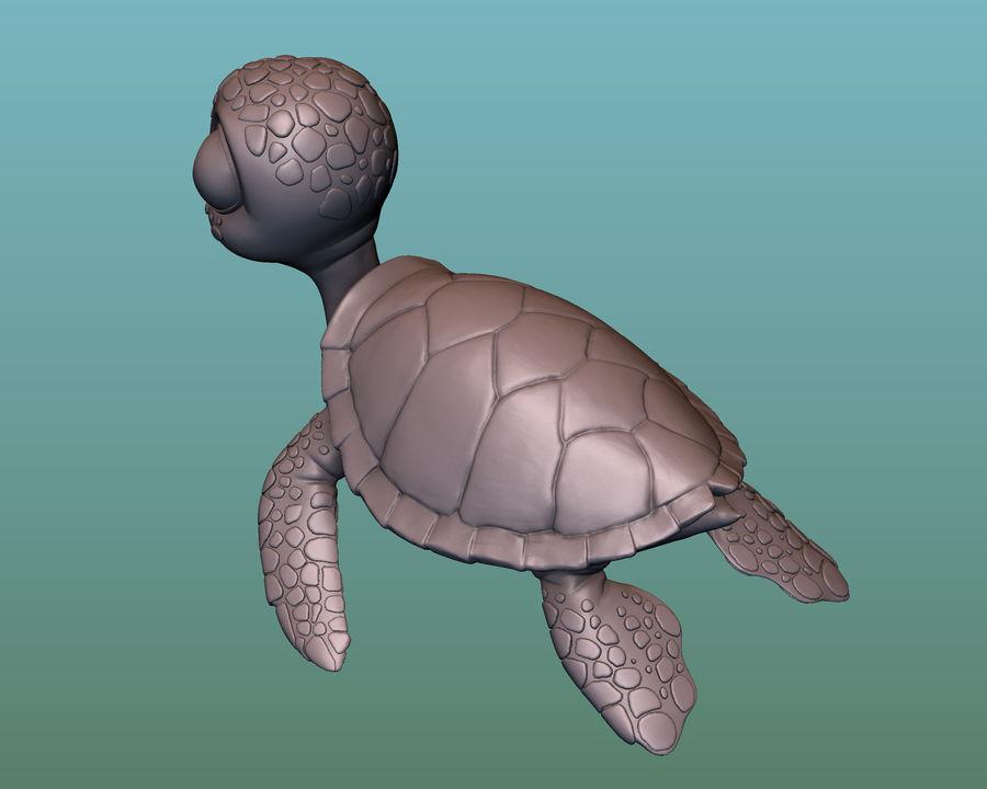 海龟(绿海龟(可进行3D打印)) royalty-free 3d model - Preview no. 10