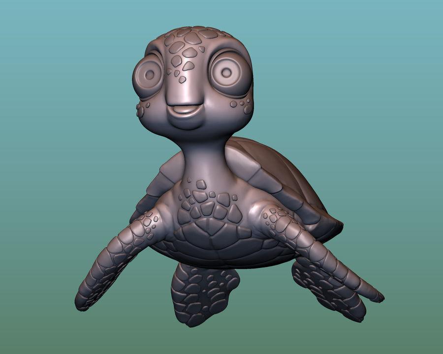 海龟(绿海龟(可进行3D打印)) royalty-free 3d model - Preview no. 2