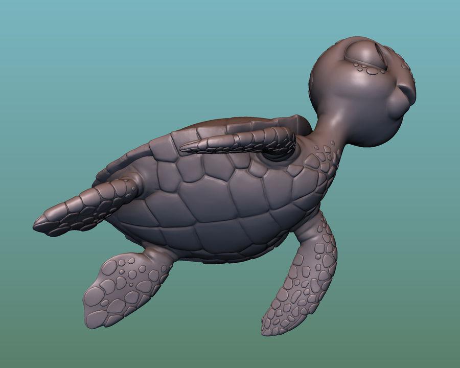 海龟(绿海龟(可进行3D打印)) royalty-free 3d model - Preview no. 12