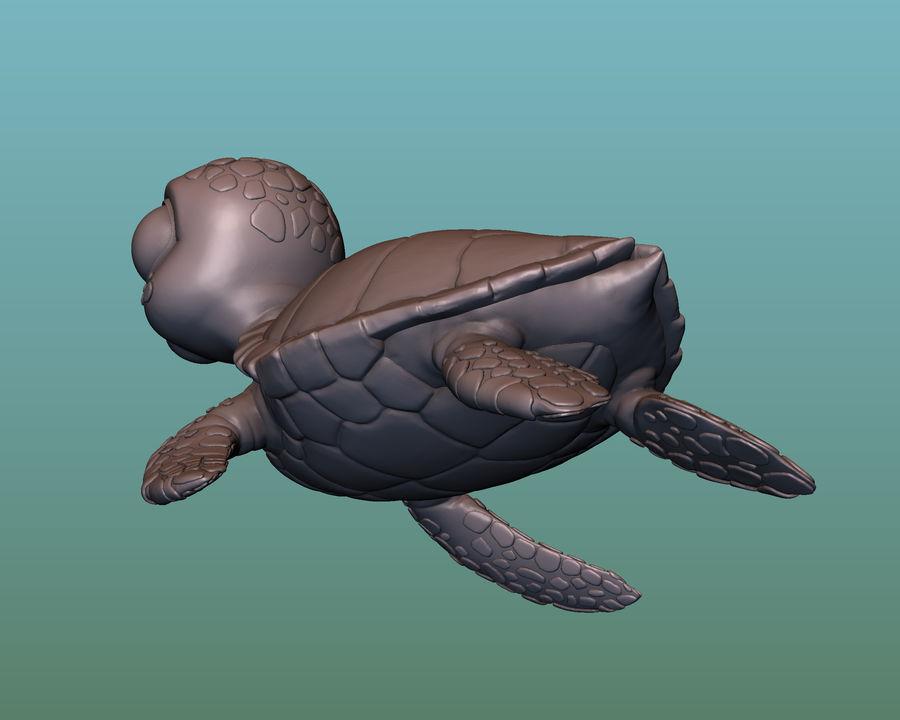 海龟(绿海龟(可进行3D打印)) royalty-free 3d model - Preview no. 11
