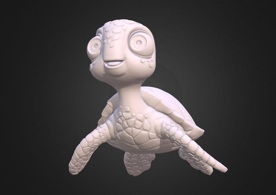 海龟(绿海龟(可进行3D打印)) royalty-free 3d model - Preview no. 1