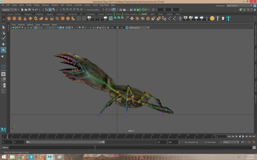 Crab Rigged royalty-free 3d model - Preview no. 4