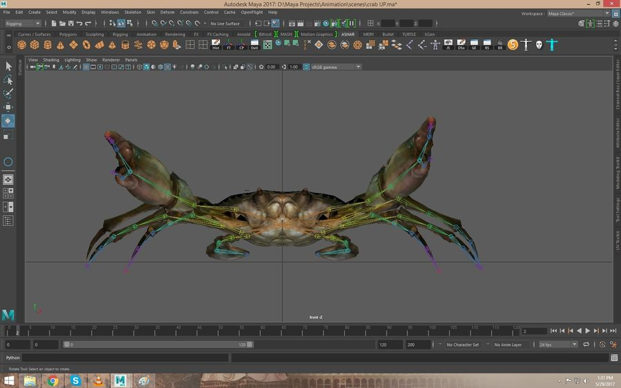 Crab Rigged royalty-free 3d model - Preview no. 1