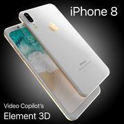 Apple iPhone 8 X Concept Leck Ecken Kanten Alle Farben 3d model