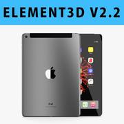 E3D - Apple iPad 9.7 İnç 2017 Hücresel Uzay Gri 3D modeli 3d model