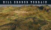 Heuvels terrein 3d model