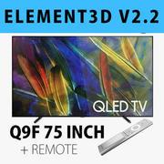 E3D - Samsung Q9F 75 İnç + Uzaktan QLED 4K TV 3d model