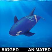 Cartone animato Dolpin Rigged animato 3d model