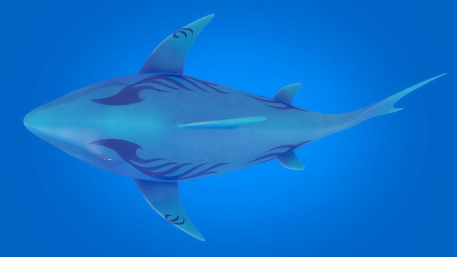 Cartoon tubarão manipulado animado royalty-free 3d model - Preview no. 7