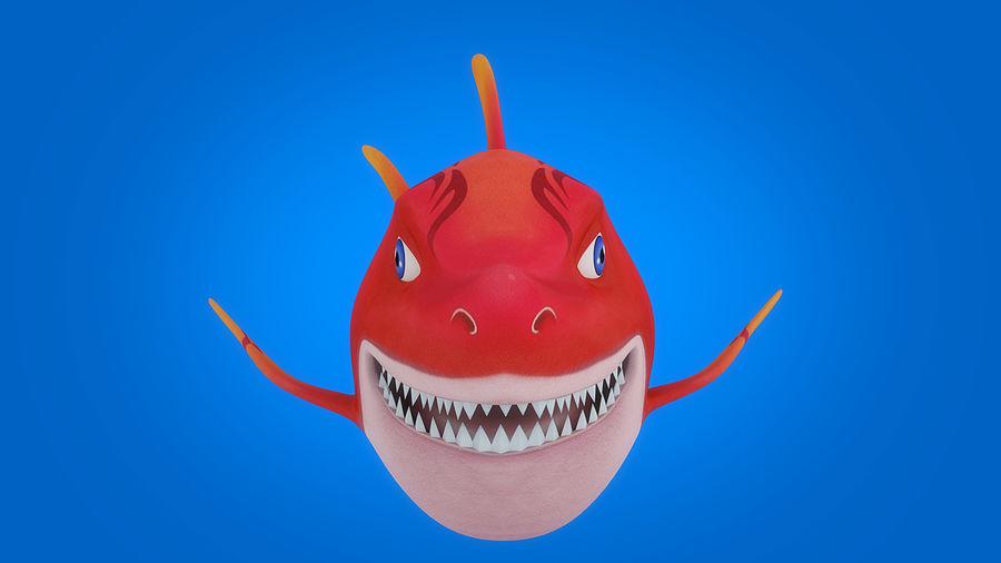 Cartoon tubarão manipulado animado royalty-free 3d model - Preview no. 2