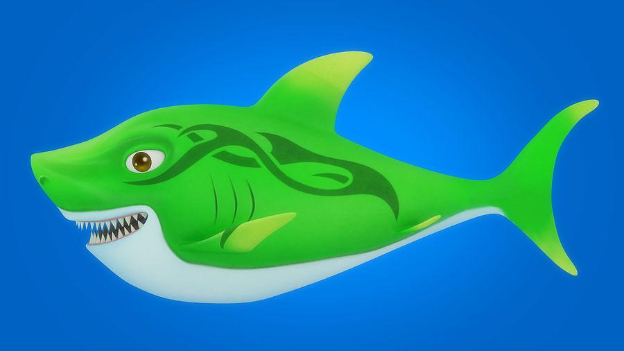 Cartoon tubarão manipulado animado royalty-free 3d model - Preview no. 9