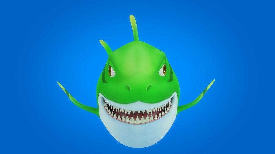 Cartoon tubarão manipulado animado royalty-free 3d model - Preview no. 8