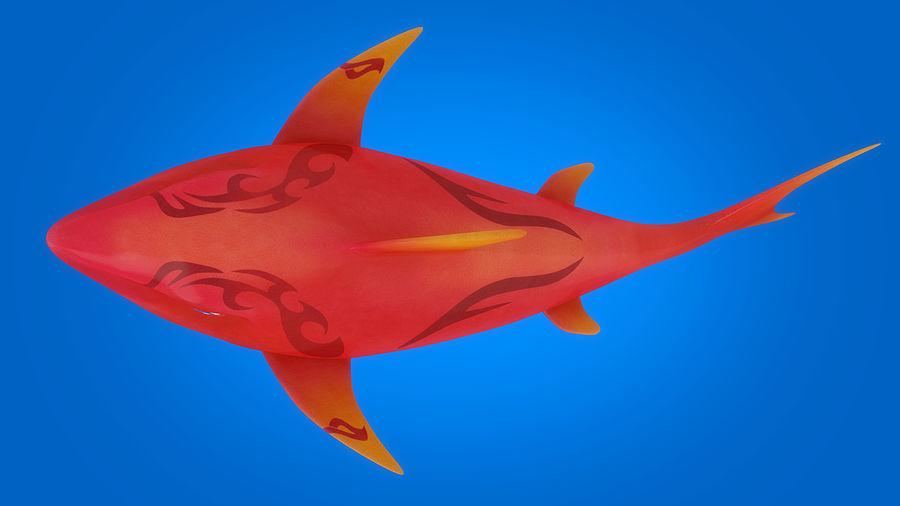 Cartoon tubarão manipulado animado royalty-free 3d model - Preview no. 4