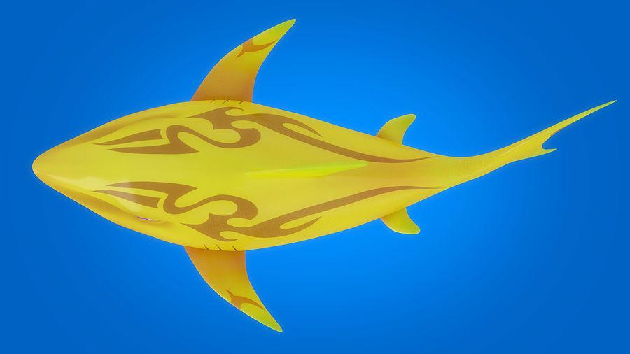 Cartoon tubarão manipulado animado royalty-free 3d model - Preview no. 13