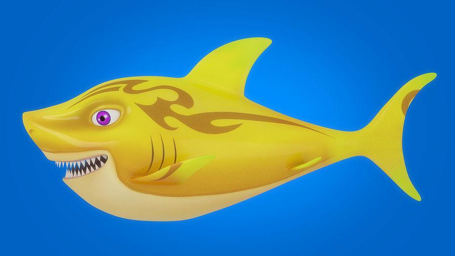 Cartoon tubarão manipulado animado royalty-free 3d model - Preview no. 12