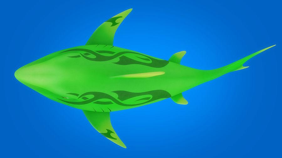 Cartoon tubarão manipulado animado royalty-free 3d model - Preview no. 10