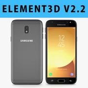 E3D - Samsung Galaxy J3 Oficjalny czarny model 2017 3d model