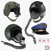 Pilot Hats 3D Models Collection 3d model