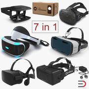Virtual Reality Goggles Collection 3 3d model