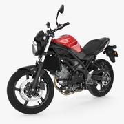 Спортивный мотоцикл Suzuki SV650 2016 Rigged 3d model