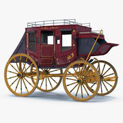Concord Stagecoach Donanımlı 3 Boyutlu Model 3d model
