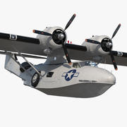 Flying Boat Consolidated PBY Catalina WWII 3d model