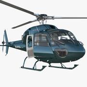 Elicottero Eurocopter AS-355N attrezzato 3d model