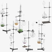 Kolekcja zestawu chemii szalonego naukowca 3d model