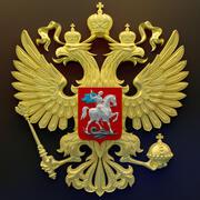Gerb Russia HD 3d model