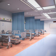 Grundlegende Krankenstation 3d model