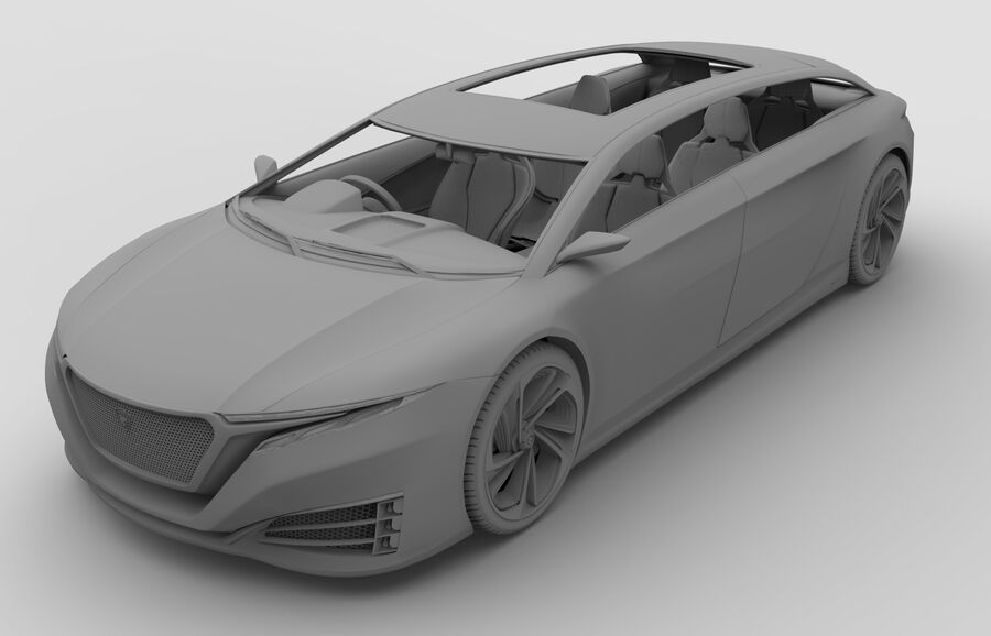Konzeptauto royalty-free 3d model - Preview no. 10