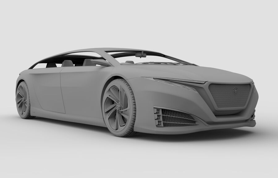 Konzeptauto royalty-free 3d model - Preview no. 9