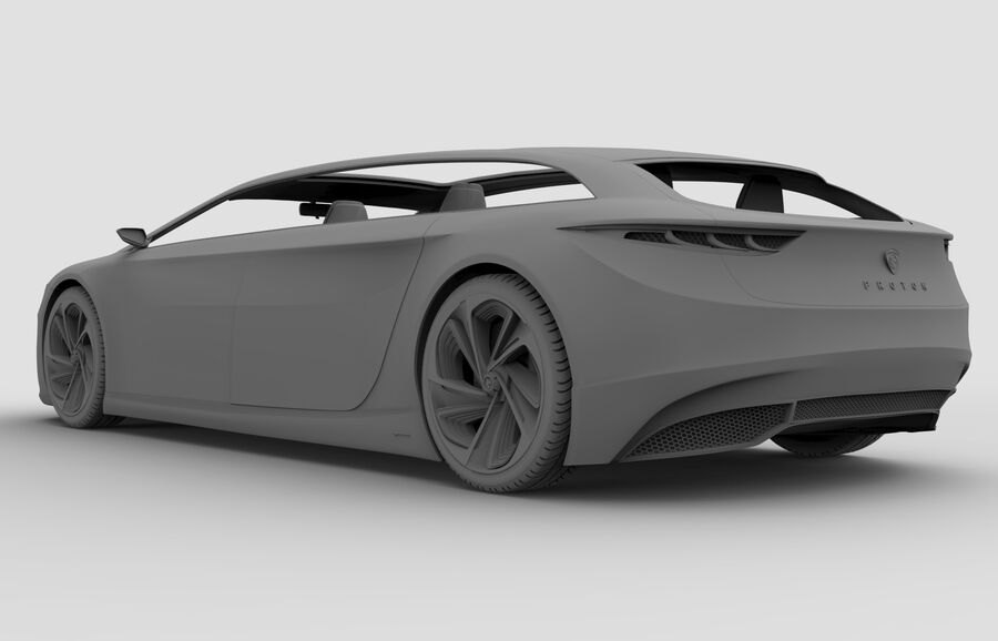 Concept Car royalty-free 3d model - Preview no. 11