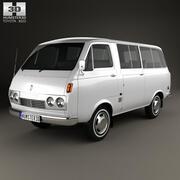 Пассажирский фургон Toyota Hiace 1967 3d model