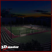 Amater Football Stadium (Night) 3d model