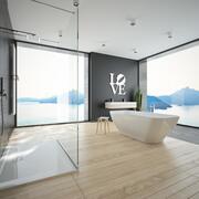 현대적인 욕실 1 3d model