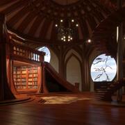 Babel Bibliothek 3d model