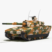 CV90 120-T Light Tank (Green-Desert Camo) 3d model
