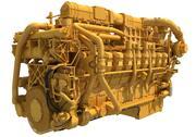 Marine Propulsion 20 Zylinder Motor 3d model