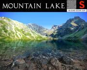 Горное озеро фотореалистично 3d model