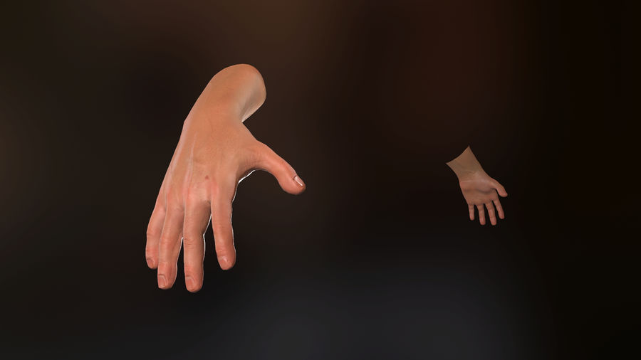 Male Hand PBR Rigged royalty-free 3d model - Preview no. 6
