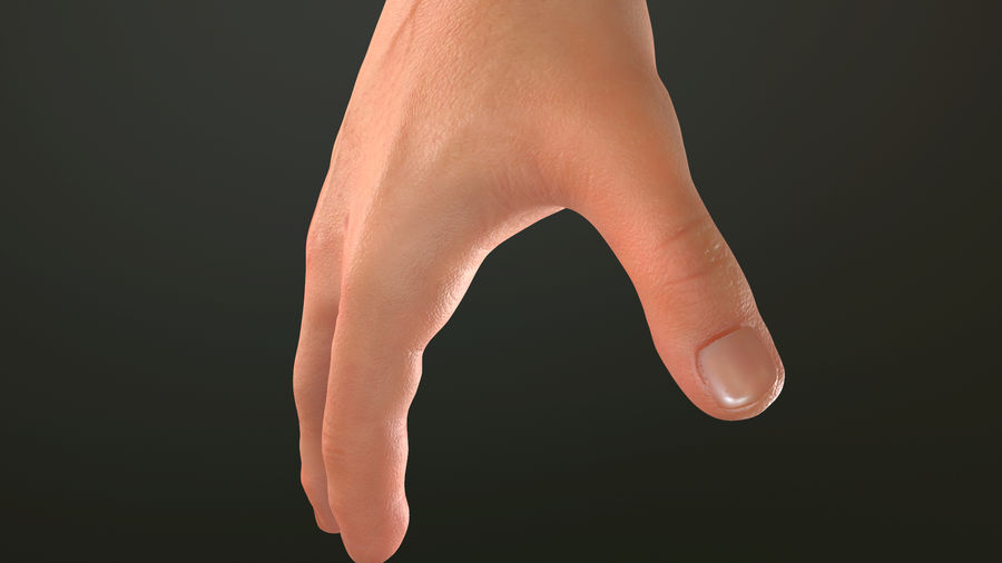 Male Hand PBR Rigged royalty-free 3d model - Preview no. 14