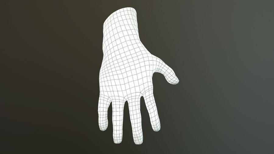 Male Hand PBR Rigged royalty-free 3d model - Preview no. 37