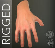 Male Hand PBR Rigged 3d model