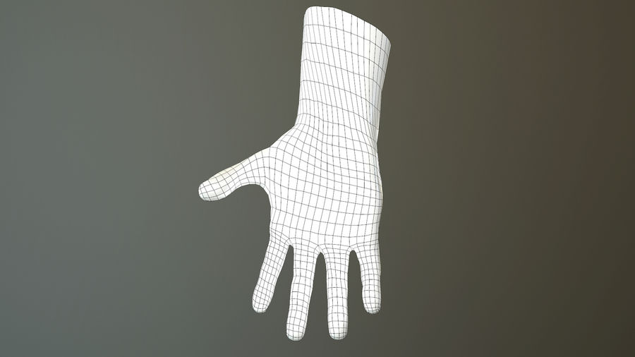 Male Hand PBR Rigged royalty-free 3d model - Preview no. 39