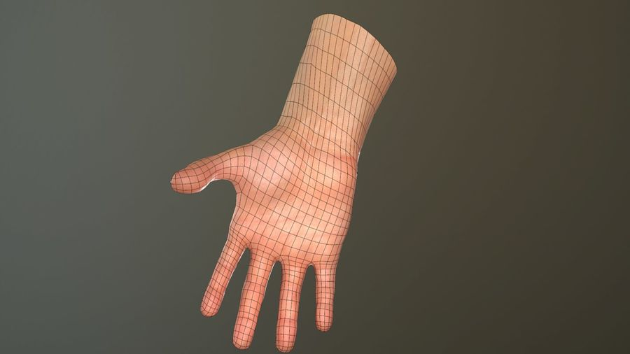 Hand Rigged (male) royalty-free 3d model - Preview no. 34