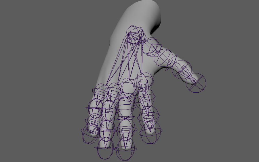 Male Hand PBR Rigged royalty-free 3d model - Preview no. 4