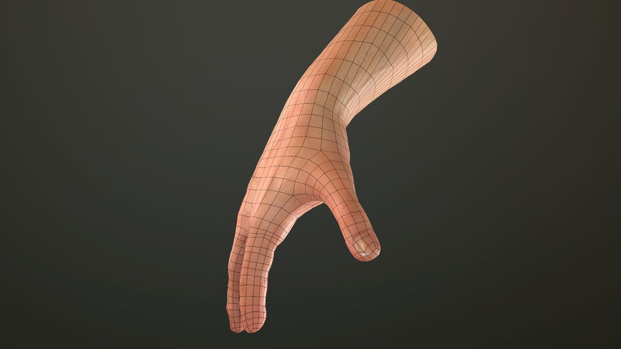 Hand Rigged (male) royalty-free 3d model - Preview no. 33